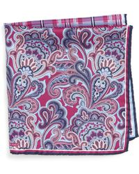 Nordstrom - 'three Panel' Silk Pocket Square - Lyst