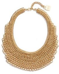Adia Kibur - Linked Circle Statement Bib Necklace - Lyst