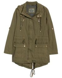 Levi's | Parachute Hooded Cotton Utility Jacket | Lyst