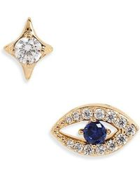 Nadri - Evil Eye Earrings - Lyst
