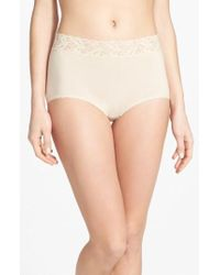 Wacoal - 'cotton Suede' Lace Trim Briefs - Lyst