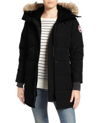 Canada Goose - Shelburne Slim Fit Genuine Coyote Fur Trim Down Parka - Lyst