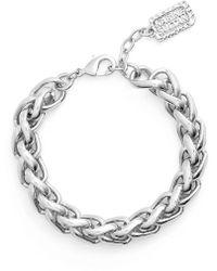 Karine Sultan - Braided Link Bracelet - Lyst