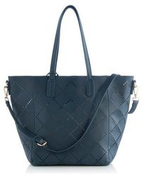 Shiraleah - Perforated Faux Leather Tote - - Lyst