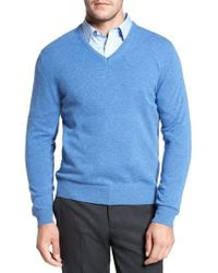 David Donahue - Cashmere V-neck Sweater - Lyst