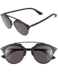 Dior - So Real 48mm Brow Bar Sunglasses - Lyst