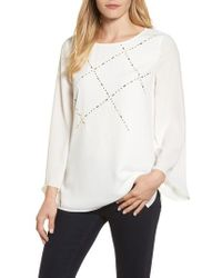 Chaus - Studded Blouse - Lyst