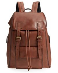 John Varvatos | Heritage Leather Backpack | Lyst