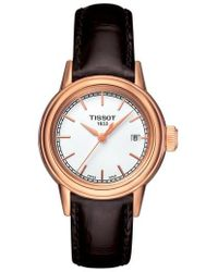 Tissot - Carson Leather Strap Watch - Lyst