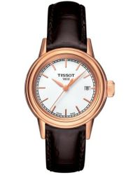 Tissot - Carson Leather Strap Watch - Lyst