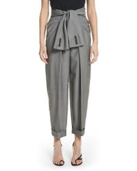 Alexander Wang - Tie Waist Tapered Trousers - Lyst