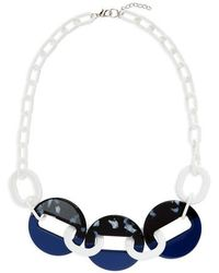 Natasha Couture - Resin Link Necklace - Lyst