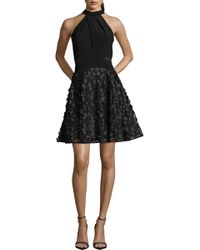 Xscape - 3d Floral Party Dress - Lyst