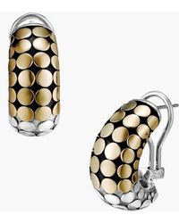 John Hardy - Dot Gold Silver Buddha Belly Earrings - Lyst