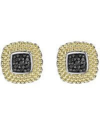 Lagos - Diamond Lux Black Diamond Square Stud Earrings - Lyst