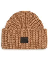 2b8537ec208 AllSaints - Half Cardigan Stitch Beanie - Lyst