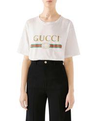 38d245daa712 Lyst - Gucci Logo Tshirt in Black