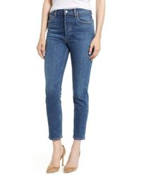 Agolde - Nico High Waist Crop Slim Fit Jeans - Lyst