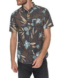 Quiksilver - Print Linen-blend Shirt - Lyst