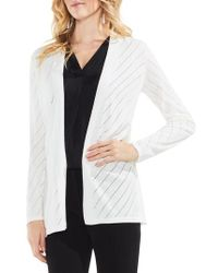 Vince Camuto - Open Front Pointelle Cardigan - Lyst