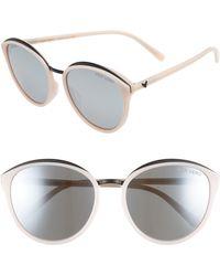 Vedi Vero - 59mm Mirrored Round Cat Eye Sunglasses - Lyst