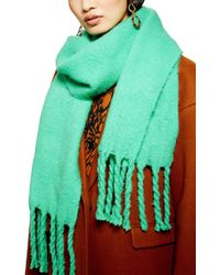 TOPSHOP - Heavy Brushed Scarf - Lyst