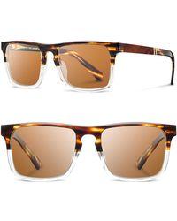 26ee2e0210 Shwood -  govy 2  52mm Polarized Sunglasses - Whiskey Soda  Brown - Lyst