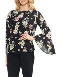 Vince Camuto - Floral Story Bell Sleeve Blouse - Lyst