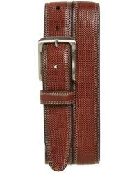 Johnston & Murphy - Textured Leather Belt - Lyst