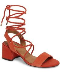 TOPSHOP | Nevada Lace-up Sandal | Lyst