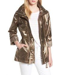 Kenneth Cole - Metallic Hooded Jacket - Lyst