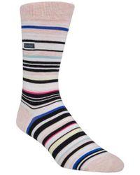 Calvin Klein - Multistripe Emblem Socks - Lyst