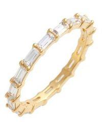 Judith Jack   Stackable Cubic Zirconia Baguette Ring   Lyst