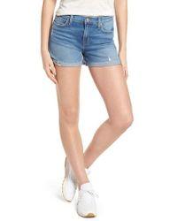 Hudson Jeans - Valeri Cuff Denim Shorts - Lyst