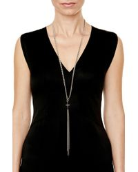 Sheryl Lowe - Gwenyth Diamond Cross Chain Necklace - Lyst