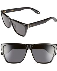 Givenchy - 58mm Flat Top Sunglasses - - Lyst