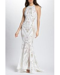 Bronx and Banco - Ester Halter Mermaid Gown - Lyst