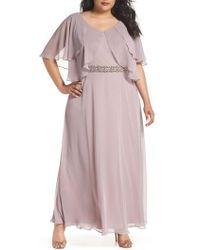 Alex Evenings - Embellished Waist Flutter Dress - Lyst