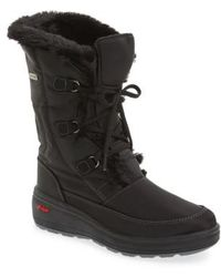 Pajar - 'marcie' Waterproof Snow Boot With Faux Fur Collar - Lyst