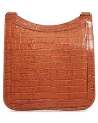 Creatures of Comfort - Tall Equestrian Croc Embossed Leather Crossbody Bag - - Lyst