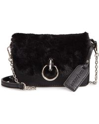 c81e6b847b5 Sole Society - Lebra Faux Fur Crossbody Bag - Lyst