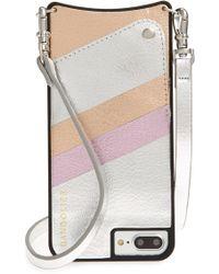 Bandolier - Emma Iphone 6/7/8 & 6/7/8 Plus Crossbody Case - Metallic - Lyst