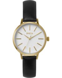 Breda - Joule Slim Leather Strap Watch - Lyst