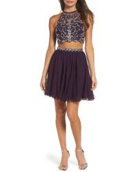 Blondie Nites | Embellished Two-piece Fit & Flare Dress | Lyst