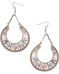 Nakamol - Mix Cultured & Freshwater Pearl Drop Earrings - Lyst
