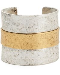 Karine Sultan - Carolina Textured Cuff - Lyst