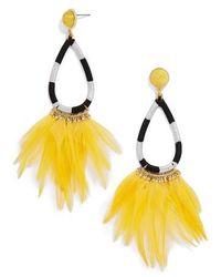 BaubleBar   Feather Shoulder Duster Earrings   Lyst