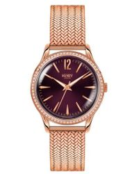 Henry London - Hampstead Mesh Strap Watch - Lyst