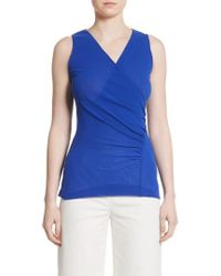 Fuzzi - Ruched Tulle Tank - Lyst