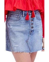 Free People - We The Free By A-line Denim Skirt - Lyst